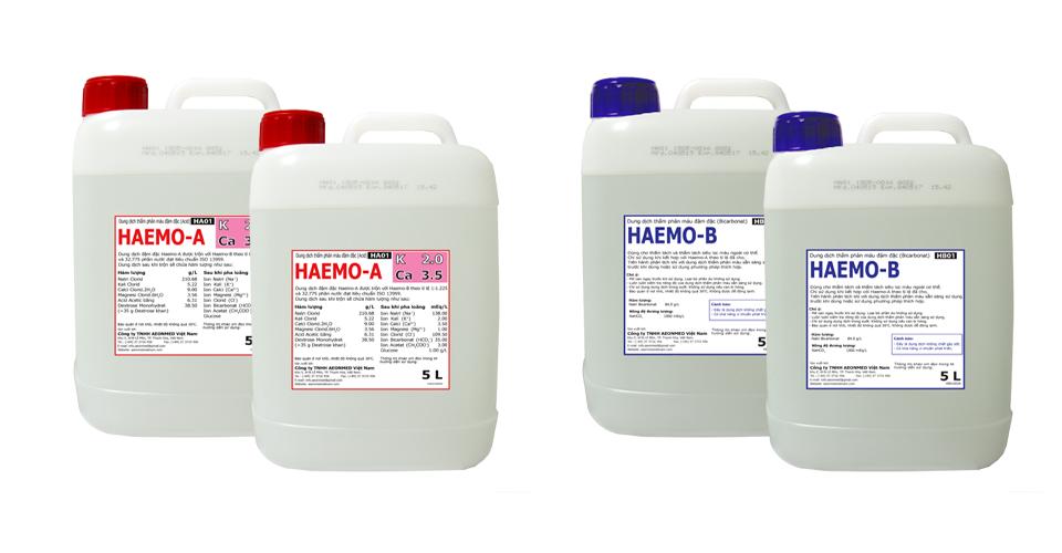 Sản phẩm dung dịch thẩm phâm máu đậm đặc HAEMO-A, HAEMO-B